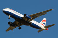 G-EUUX @ EGLL - Airbus A320-232 [3550] (British Airways) Home~G 18/01/2011. On approach 27R.