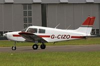 G-CIZO @ EGFF - Cadet, Exeter based, previously SE-KII, seen taxxing in. - by Derek Flewin