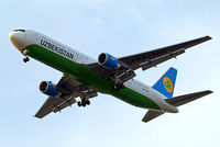 UK67006 @ EGLL - Boeing 767-33PER [40535] (Uzbekistan Airways) Home~G 23/07/2013. On approach 27R.