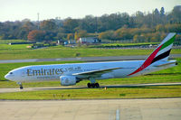 A6-EME @ EGBB - Boeing 777-21H [27248] (Emirates Airlines) Birmingham Int'l~G 19/11/2004 - by Ray Barber
