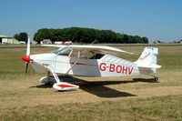G-BOHV @ EGBP - Wittman W.8 Tailwind [PFA 031-11151] Kemble~G 13/07/2003 - by Ray Barber