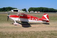 G-BJWT @ EGBP - Wittman W.10 Tailwind [PFA 031-10688] Kemble~G 13/07/2003 - by Ray Barber