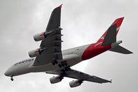 VH-OQF @ EGLL - Airbus A380-841 [029] (QANTAS) Home~G 03/06/2014. On approach 27R.