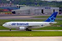 C-GLAT @ EGBB - Airbus A310-308 [588] (Air Transat) Birmingham Int'l~G 17/05/2005 - by Ray Barber