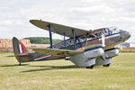 G-AGJG @ EGBR - De Havilland DH-89A Dragon Rapide at The Real Aeroplane Company's Wings & Wheels Weekend, Breighton Airfield, July 24th 2011. - by Malcolm Clarke