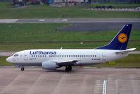 D-ABIX @ EGBB - Boeing 737-530 [24946] (Lufthansa) Birmingham Int'l~G 26/11/2004 - by Ray Barber