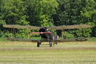 F-AYBF @ LFFQ - Bristol F.2B Fighter, Taxiing to parking area, La Ferté-Alais airfield (LFFQ) Airshow 2015 - by Yves-Q