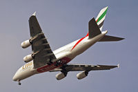 A6-EDM @ EGLL - Airbus A380-861 [042] (Emirates Airlines) Home~G 28/03/2011. On approach 27R. - by Ray Barber