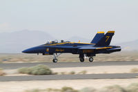163464 @ WJF - due to problems with a single seater F-18, one pilot used the two seater during the LA county airshow... - by olivier Cortot