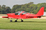 G-CIRY @ EGBR - Evektor Aerotechnik EV-97 Eurostar SL at The Real Aeroplane Company's Helicopter Fly-In, Breighton Airfield, September 20th 2015. - by Malcolm Clarke
