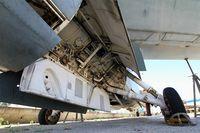 8 - Vought F-8E(FN) Crusader, Close view of main landing gear, les amis de la 5ème escadre Museum, Orange - by Yves-Q