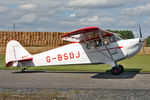 G-BSDJ @ EGBR - Piper J-4E Cub Coupe at The Real Aeroplane Company's Summer Fly-In, Breighton Airfield, August 21st 2011. - by Malcolm Clarke
