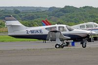 2-MIKE @ EGFH - Commander, Guernsey Channel Islands based, previously N6048B, seen parked up. - by Derek Flewin