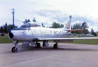 23228 @ CYBN - Sabre 23228 shown at Canadian Forces Base Borden, Ontario in August 1971 when it was being used as an instructional airframe. - by Alf Adams