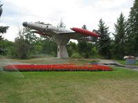 18619 - CF-100 18619 shown displayed on a pedestal in Wildwood Park, Toronto, Ontario in July 2016. - by Alf Adams