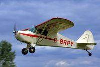 G-BRPY @ EGBR - Departure to the west - by glider