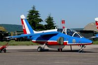 E114 @ LFSX - Dassault-Dornier Alpha Jet E (F-TERR), Athos 04 of Patrouille de France 2015, Luxeuil-Saint Sauveur Air Base 116 (LFSX) Open day 2015 - by Yves-Q