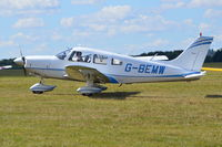 G-BEMW @ EGLM - Piper Cheokee Archer II with modified colour scheme at White Waltham. Ex N9566N - by moxy