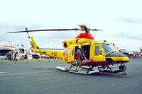 R-01 @ EGDY - Agusta-Bell AB.412SP [25630] (Royal Netherlands Air Force) RNAS Yeovilton~G 15/07/1995
