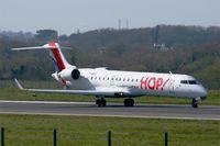 F-GRZL @ LFRB - Canadair Regional Jet CRJ-701, Take-off run Rwy 07R, Brest-Bretagne Airport (LFRB-BES) - by Yves-Q