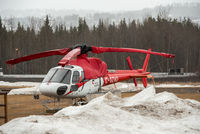 C-GZAD - Parked at Canadian Helicopters base in Smithers - by Remi Farvacque