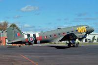 ZK-DAK @ NZAR - Douglas DC-3C-47B-10-DK [15035/26480] (Flight 2000) Ardmore~ZK 26/09/2004 - by Ray Barber