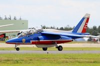 E114 @ LFOA - Dassault-Dornier Alpha Jet E (F-TERR), Athos 02 of Patrouille de France 2016, Avord Air Base 702 (LFOA) Open day 2016 - by Yves-Q