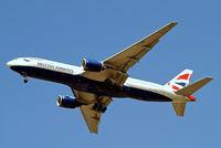 G-YMME @ EGLL - Boeing 777-236ER [30306] (British Airways) Home~G 05/06/2014. On approach 27R