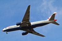 G-YMME @ EGLL - Boeing 777-236ER [30306] (British Airways) Home~G 27/03/2015. On approach 27R. Wearing red nose.