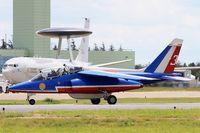 E119 @ LFOA - Dassault-Dornier Alpha Jet E (F-UGFE), Athos 03 of Patrouille de France 2016, Avord Air Base 702 (LFOA) Open day 2016 - by Yves-Q
