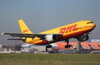 D-AEAP @ EGGW - D AEAP  A300B4 C/No 724 of EAT Leipzig, sunny departure from EGGW - by dave226688