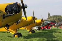 SE-IID @ LFQO - Seven taildraggers in a row: SE-IID, G-CCKW, G-NETY, OO-USK, G-INDI, N51PS and OO-PVI. - by Stefan De Sutter