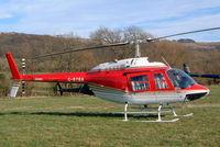 G-BYBA @ EGBC - Agusta-Bell AB.206B-3 Jet Ranger III [8596] Cheltenham Racecourse~G 16/03/2004