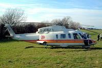 G-JCBJ @ EGBC - Sikorsky S-76C+ [760502] (J C Bamford Excavators Ltd) Cheltenham Racecourse~G 16/03/2004