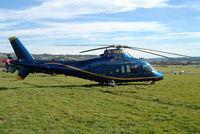 G-BXIV @ EGBC - Agusta A-109A [7135] (Hele-Tele Ltd) Cheltenham Racecourse~G 16/03/2004