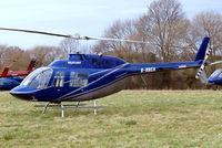 G-BBCA @ EGBC - Bell 206B-2 Jet Ranger II [1101] (Heliflight) Cheltenham Racecourse~G 13/03/2008
