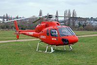 G-OHMS @ EGBC - Aerospatiale AS.355F1 Ecureuil II [5194] (Western Power Distribution) Cheltenham Racecourse~G 16/03/2012