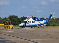 M-ABLE @ EGTF - Sikorsky S-76D at Fairoaks. Ex N7668H - by moxy