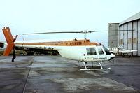 EI-BEV @ EINN - Agusta-Bell AB.206B Jet Ranger II [8026] (Irish Airwork) Shannon~EI 14/04/1979. From a slide.