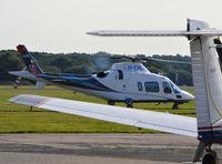 M-EMLI @ EGTF - Agusta Westland AW-109E Powerat Fairoaks. Ex G-VMCO, G-TYCN, M-ONEY - by moxy