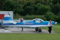 D-EDRS @ EDHE - Slingsby T67C-3 Firefly being tanked-up at Uetersen airfield, Germany - by Van Propeller