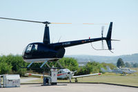 D-HCMB @ EDFC - Robinson R44 Raven I helicopter landing at Aschaffenburg airport, Germany - by Van Propeller