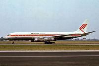 PH-MAU @ EHAM - Douglas DC-8-55 [45856] (Martinair Holland) Amsterdam-Schiphol~PH 29/08/1976. From a slide.