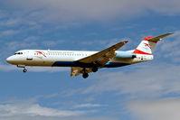 OE-LVA @ EGLL - Fokker F-100 [11490] (Austrian Arrows) Heathrow~G 01/09/2006. On finals 27L. - by Ray Barber