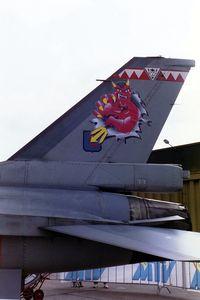 FA-67 @ EBBL - F-16A.SPECIAL PAINT 23 SQN.PAPER DEVIL.