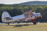 D-FWJG @ EDST - Take-off at the 2016 Hahnweide Oldtimer Fliegertreffen - by alanh