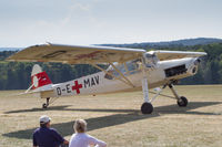 D-EMAV @ EDST - Taxying at the 2016 Hahnweide Oldtimer Fliegertreffen - by alanh