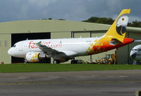 5H-FJG @ EGBP - 5H-FJG of Fastjet stored at Kemble 30.9.16 - by GTF4J2M