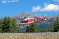 C-FALM - Taking off from Lake Louise BC on 15 Sept 2016 - by Bernie Joyce