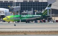 N607AS @ LAX - Alaska Portland Timbers